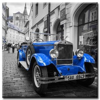 Diamanttavla Classic Blue Car 50x50