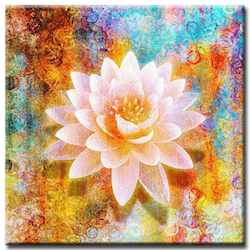 Diamanttavla Lotus Flower 40x40
