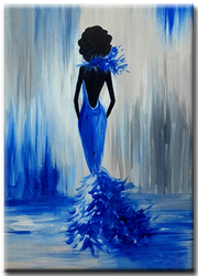 Diamanttavla Blue Beauty 40x50
