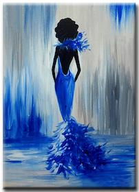 Diamanttavla Blue Beauty 40x50