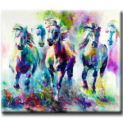 Diamanttavla Color Horses 40x50