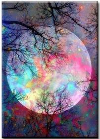 Diamanttavla (R) Color Moon 40x50
