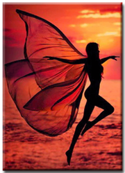 Diamanttavla Sunset Fairy 40x50