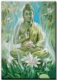 Diamanttavla Buddha Flower Garden 50x70