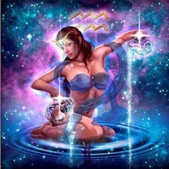Diamanttavla Aquarius 40x40