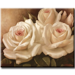 Diamanttavla Roses Creame 30x40