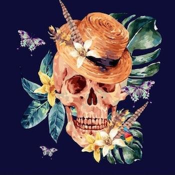 Diamanttavla Tropical Skull 50x50