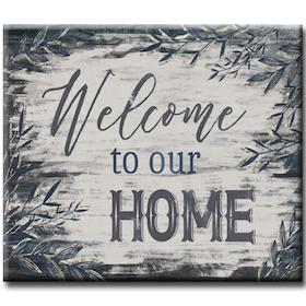 Diamanttavla Welcome To Our Home 40x50