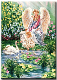 Diamanttavla Angels And Swans 70x90