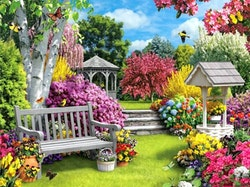 Diamanttavla Summer Garden 50x70