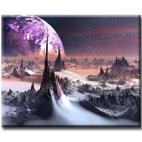 Diamanttavla Moon Landscape 50x70