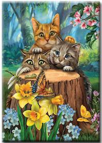 Diamanttavla Spring Cats 40x50