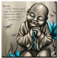 Diamanttavla Buddha Lotus Believe 50x50