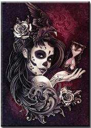 Diamanttavla Skull Beauty Time 40x50