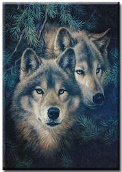 Diamanttavla Forest Wolf 40x50