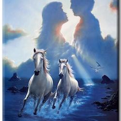 Diamanttavla Horses Love 50x70