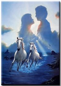 Diamanttavla (R) Horses Love 50x70
