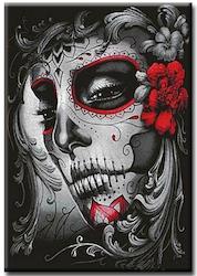 Diamanttavla Flower Skull Girl 40x50