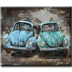 Diamanttavla Love Cars  40x50