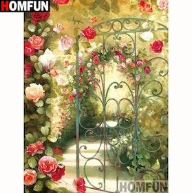 Diamanttavla Rose Garden 40x50