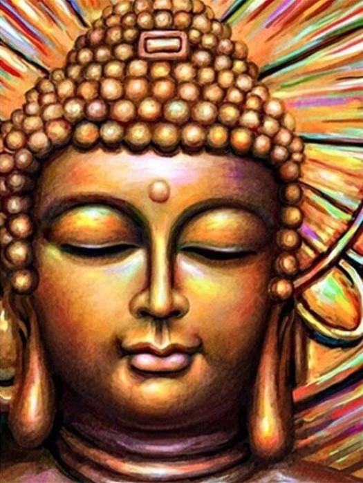 Diamanttavla Golden Buddha 40x50