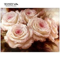 Diamanttavla Roses 30x40