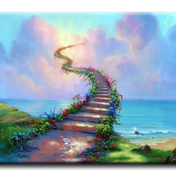 Diamanttavla Stairways To Heaven 50x70