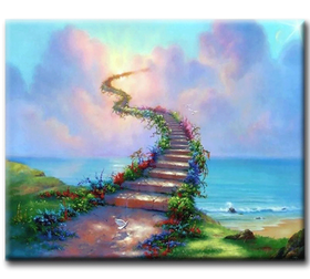 Diamanttavla Stairways To Heaven 50x70
