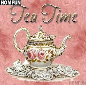 Diamanttavla Tea Time 40x40