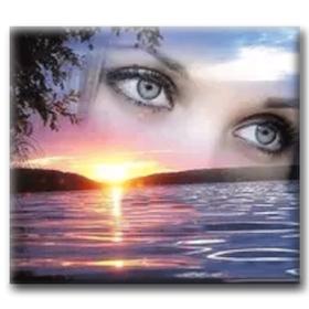 Diamanttavla Sunset Eyes 40x50