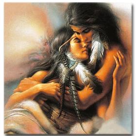 Diamanttavla (R) Indian Love Couple 50x50