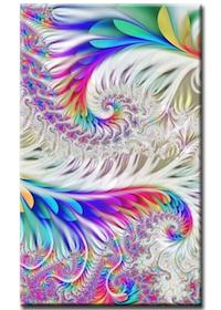 Diamanttavla Color Fethers 40x80