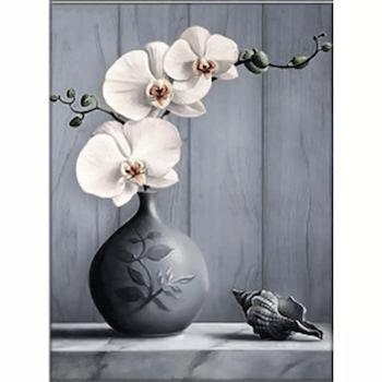 Diamanttavla (R) Orchid And Shell 40x50