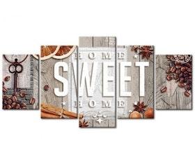 Diamanttavla 5-Delad Sweet Coffee And Cinnamon