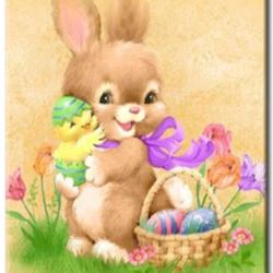 Diamanttavla Easter Rabbit 40x50
