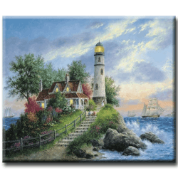 Diamanttavla (R) The Lighthouse 50x70