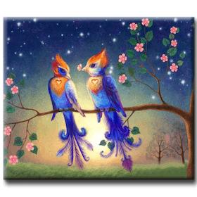 Diamanttavla (R) Lovebird Couple 40x50