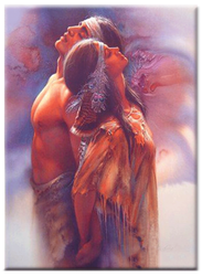 Diamanttavla (R) Indian Love Couple 50x70
