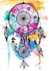 Diamanttavla (R) Color Dreamcatcher 40x50