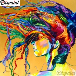 Diamanttavla (R) Color Woman Hair 50x50