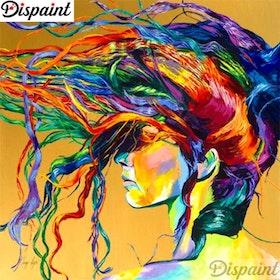 Diamanttavla (R) Color Woman Hair 50x50