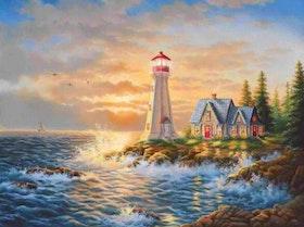 Diamanttavla Lighthouse Cabin 40x50
