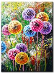 Diamanttavla Dandelion In Color 40x50
