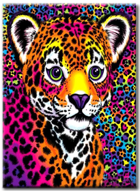 Diamanttavla Colorful Leopard Baby 30x40