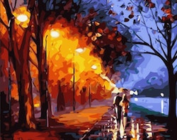 Paint By Numbers Color Evening Walk 40x50