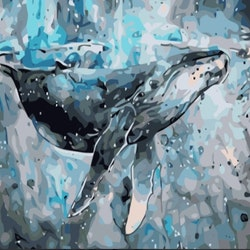 Paint By Numbers Ocean Whale 40x50