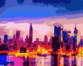 Paint By Numbers Big City Color 40x50