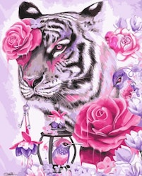 Paint By Numbers Rose Tiger 40x50