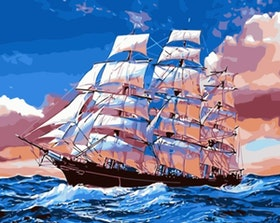 Paint By Numbers Ocean Sailing 40x50