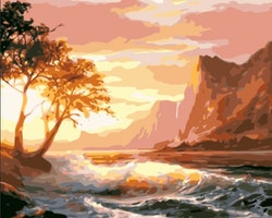 Paint By Numbers Sunset Ocean 40x50